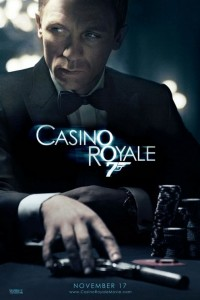 "James Bond's (Daniel Craig) first ""007"" mission leads him to Le Chiffre (Mads Mikkelsen), banker to the world's terrorists. In order to stop him, and bring down the terrorist network, Bond must beat Le Chiffre in a high-stakes poker game at Casino Royale. Bond is initially annoyed when a beautiful British Treasury official, Vesper Lynd […]"